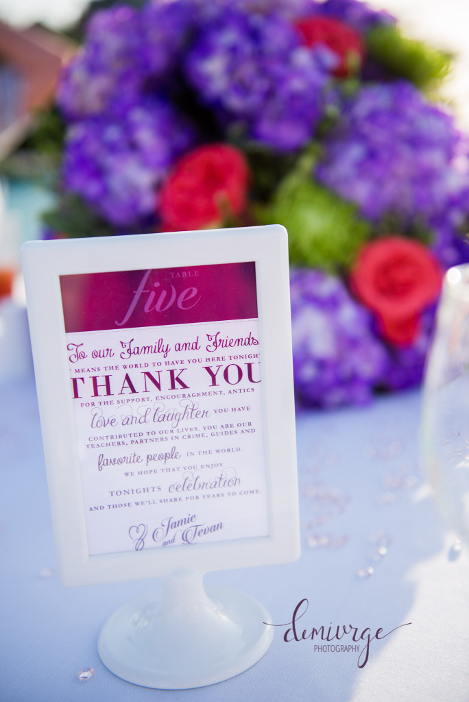 wedding table sign