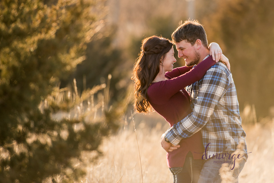 kansas winter engagement session