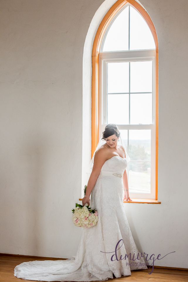bridal portrait at old stone church