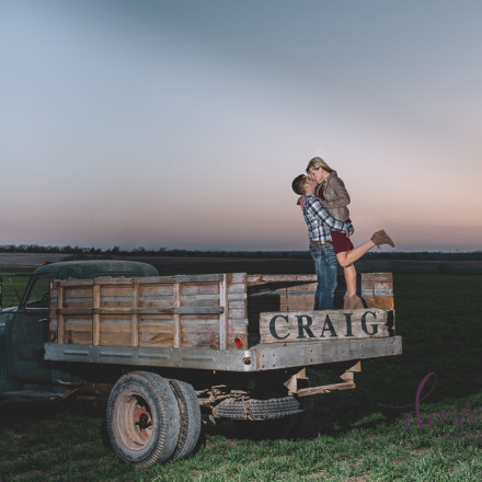 old truck sunset engagement photo wedding photographer abilene kansas