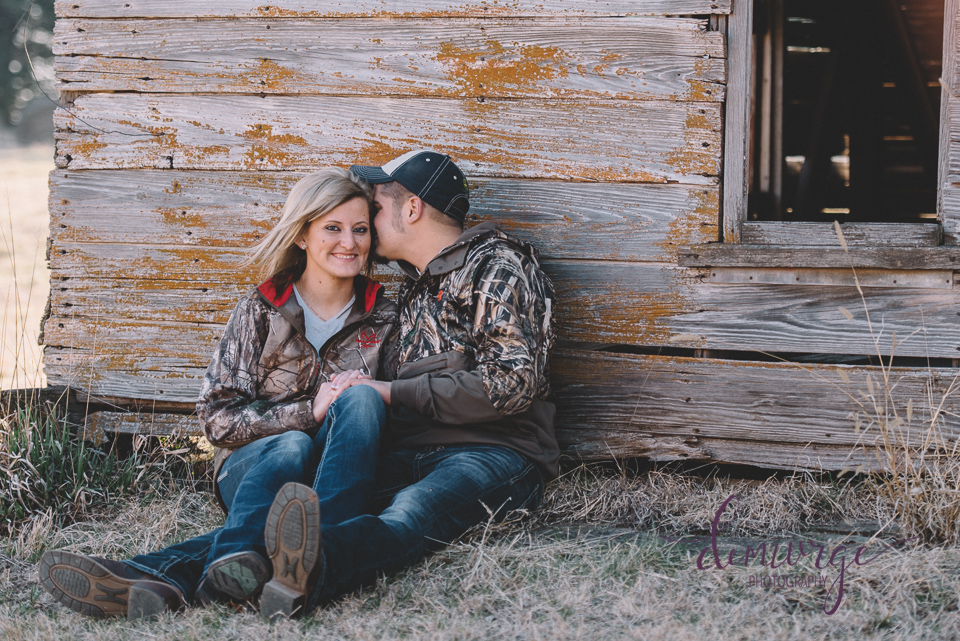 camo engagement photo