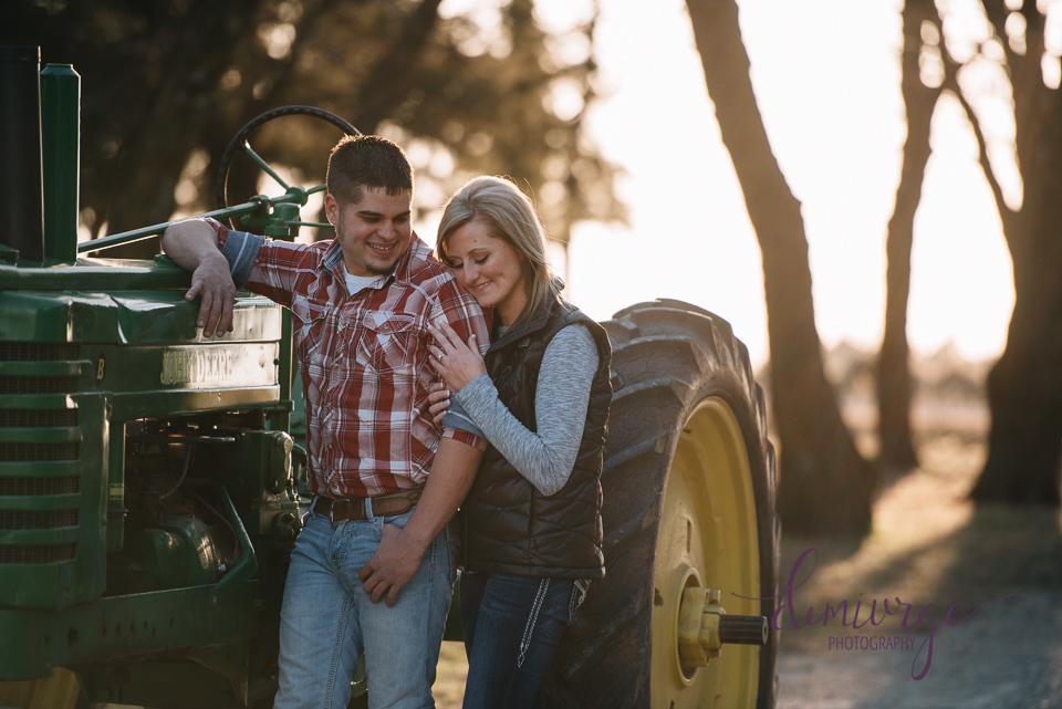 john deere farm engagement session