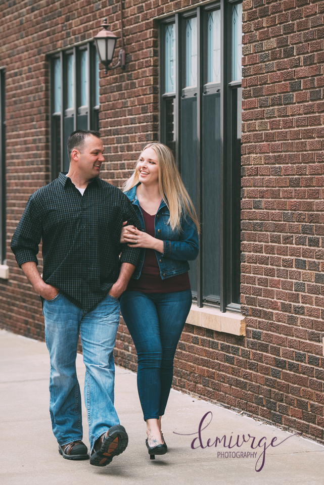 downtown manhattan engagement session