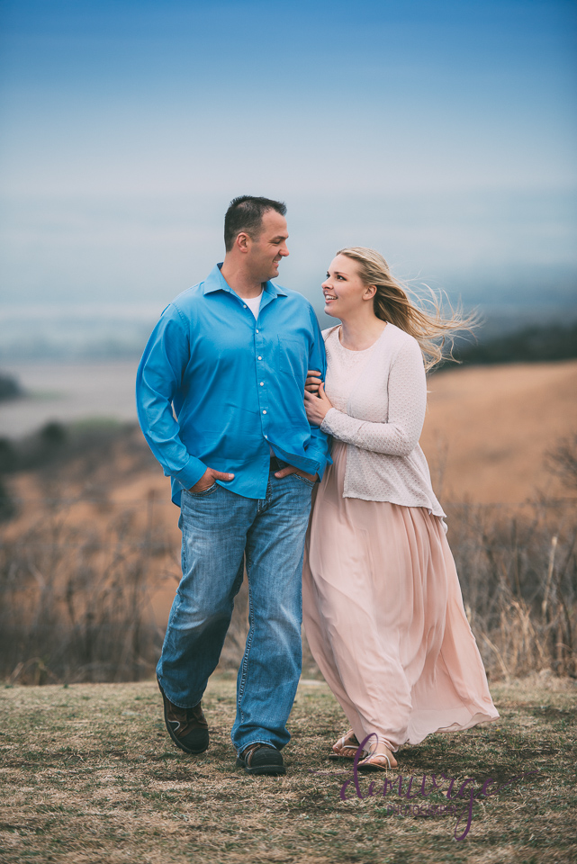 windy engagement session manhattan ks