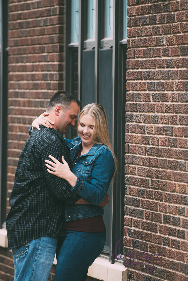 downtown engagement session manhattan, ks