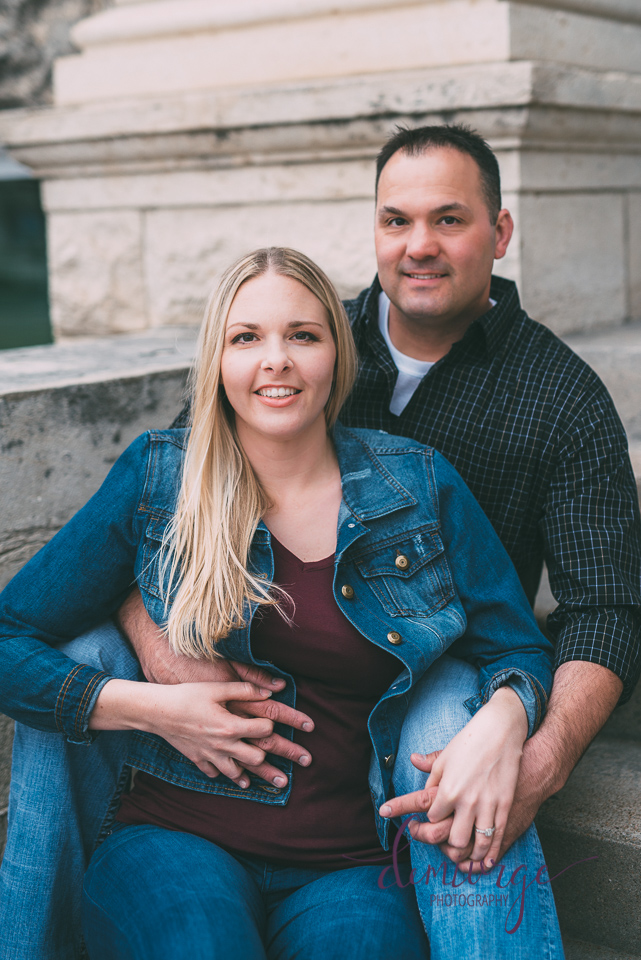 manhattan kansas downtown engagement session