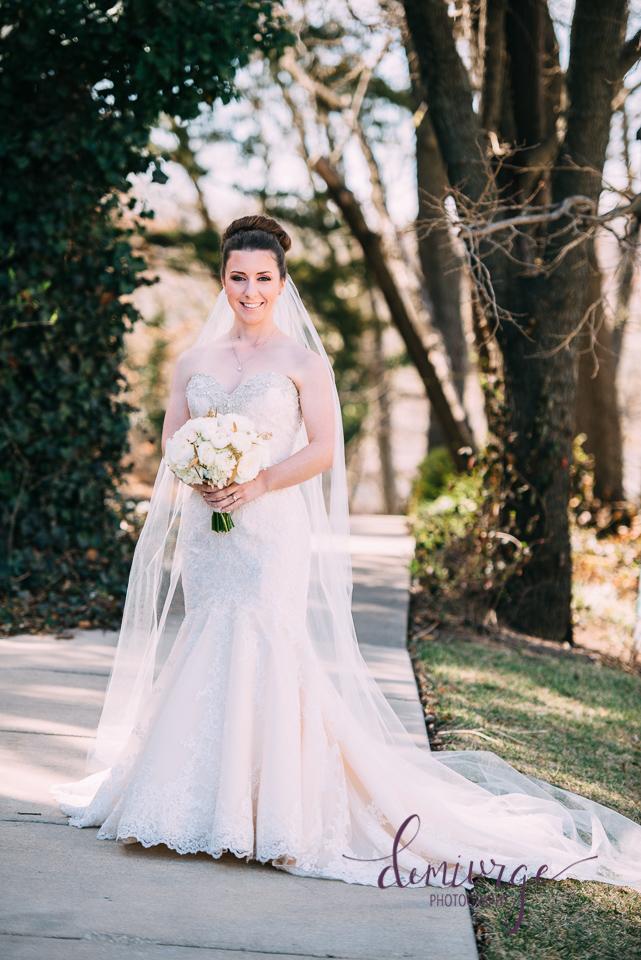 oread hotel bridal portrait