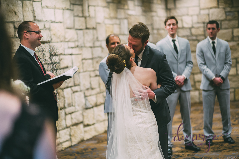 first kiss as bride and groom
