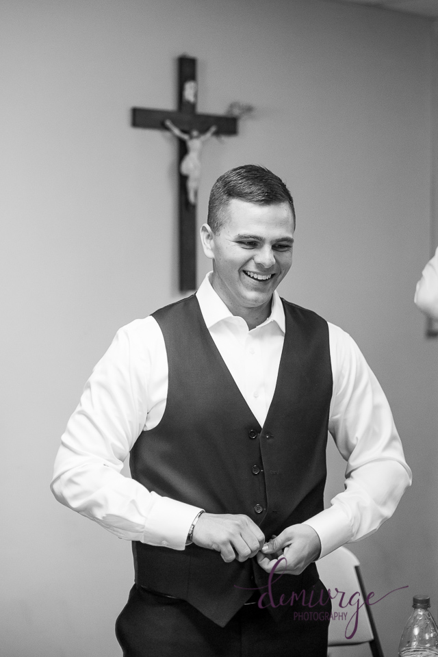 groom getting ready photo