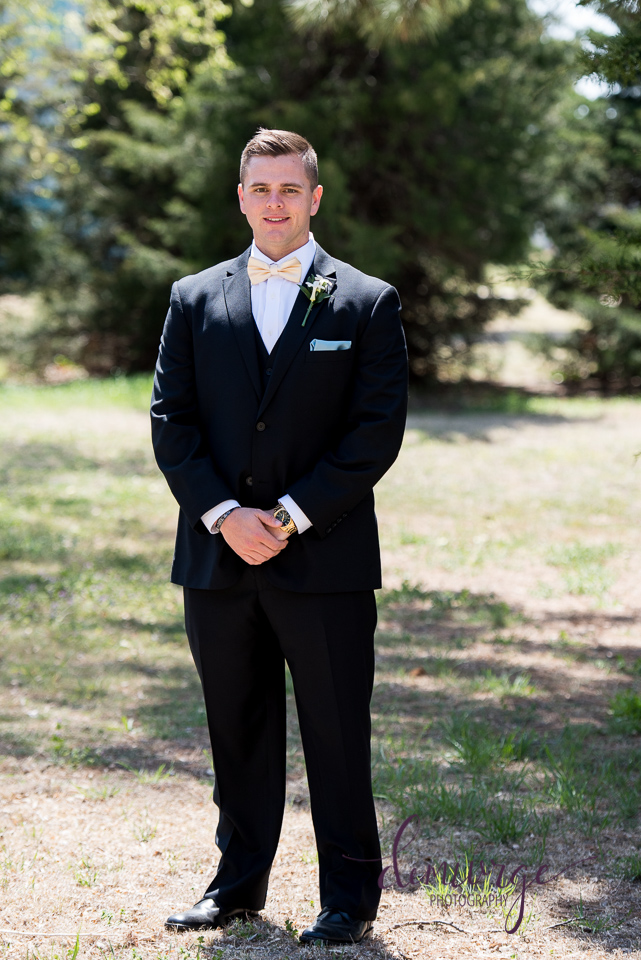 outdoor groom portrait