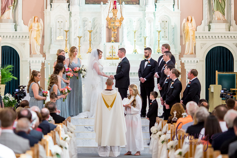 Elegant Catholic Wedding, Victoria, KS