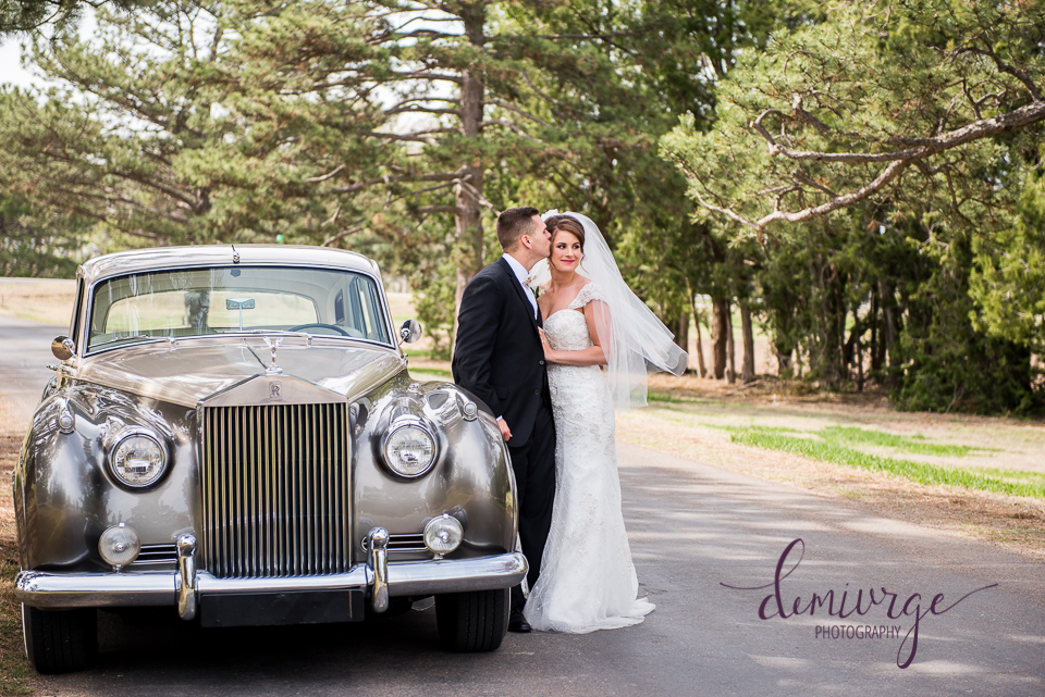 Classic Car Wedding Photo