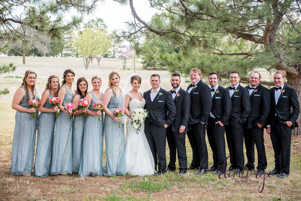Elegant Catholic Wedding Outdoor Wedding Party Photo