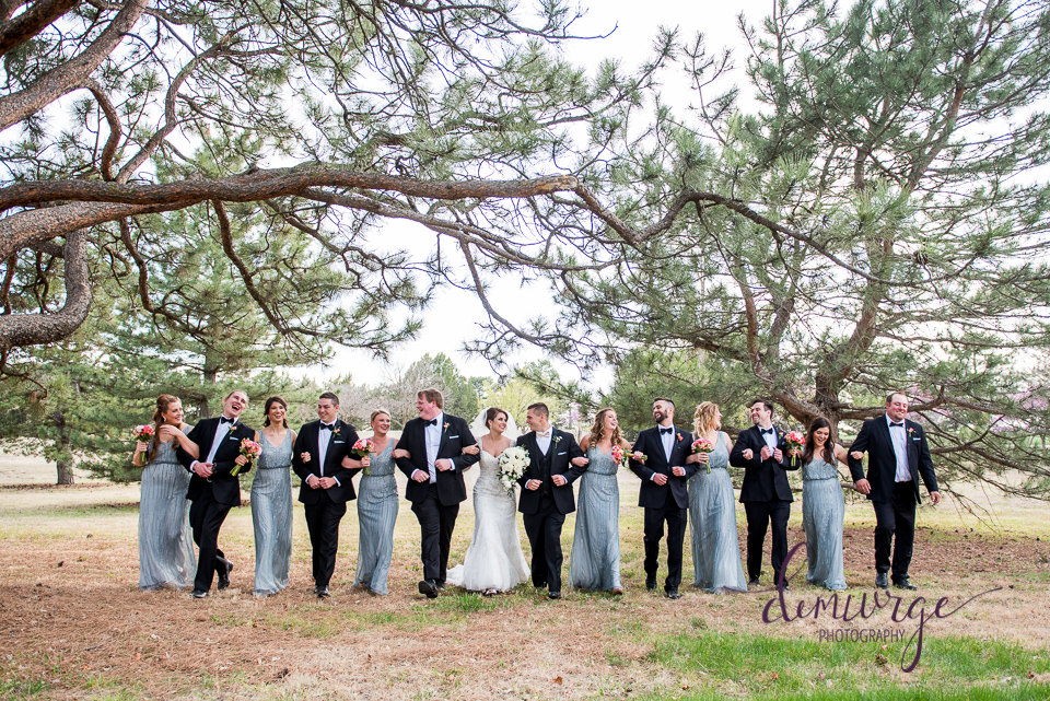 Elegant Catholic Wedding Casual Wedding Party Photo