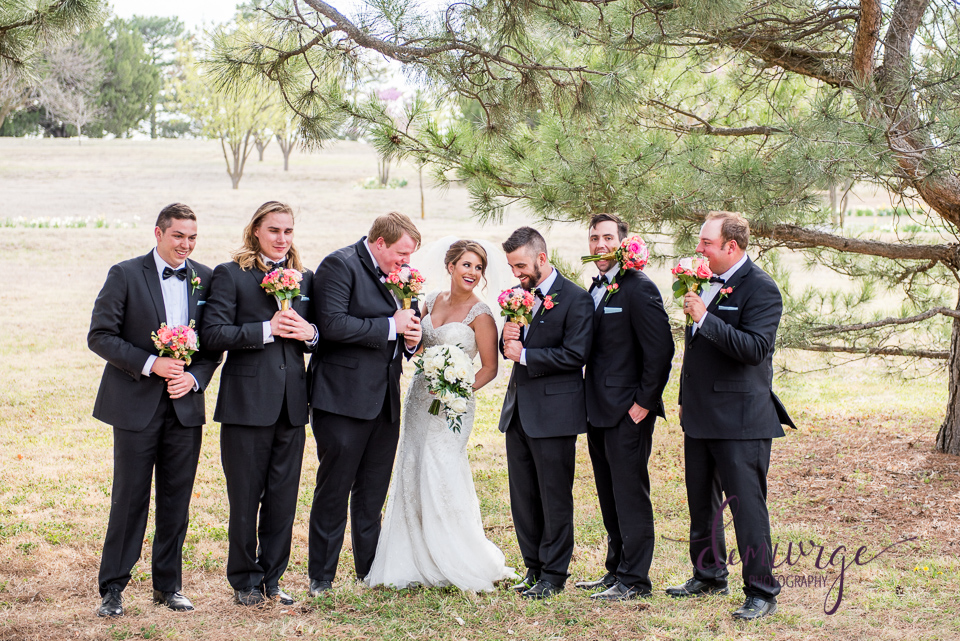 Bride with Groomsmen Cute Photo