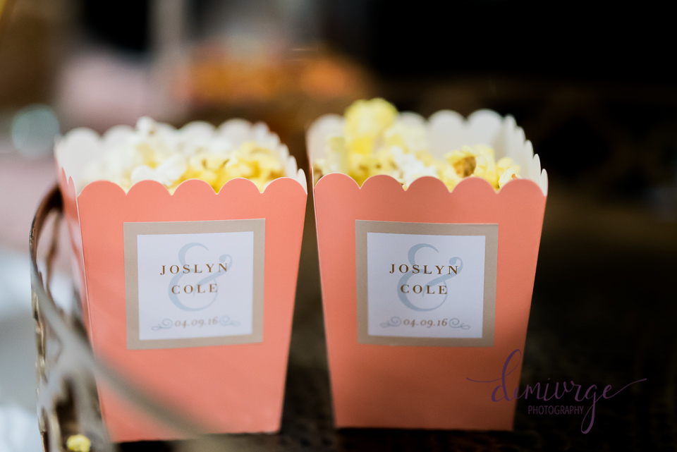 Wedding Day Popcorn Containers for Popcorn Bar