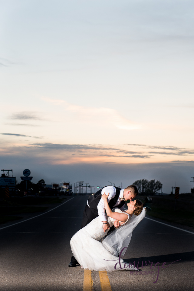 Must Have Sunset Bride and Groom Wedding Photo