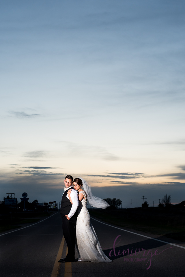 Hays KS Sunset Bride and Groom Wedding Photo
