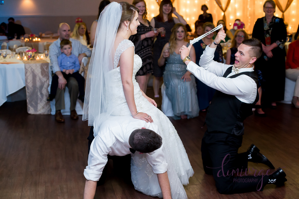 Kansas Wedding Garter Toss