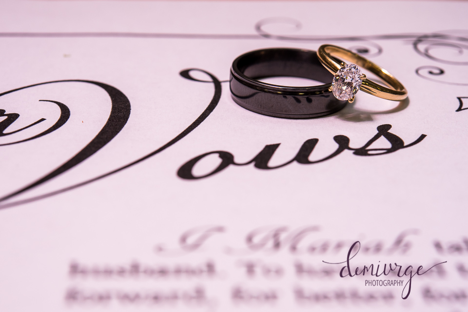 wedding rings and vows