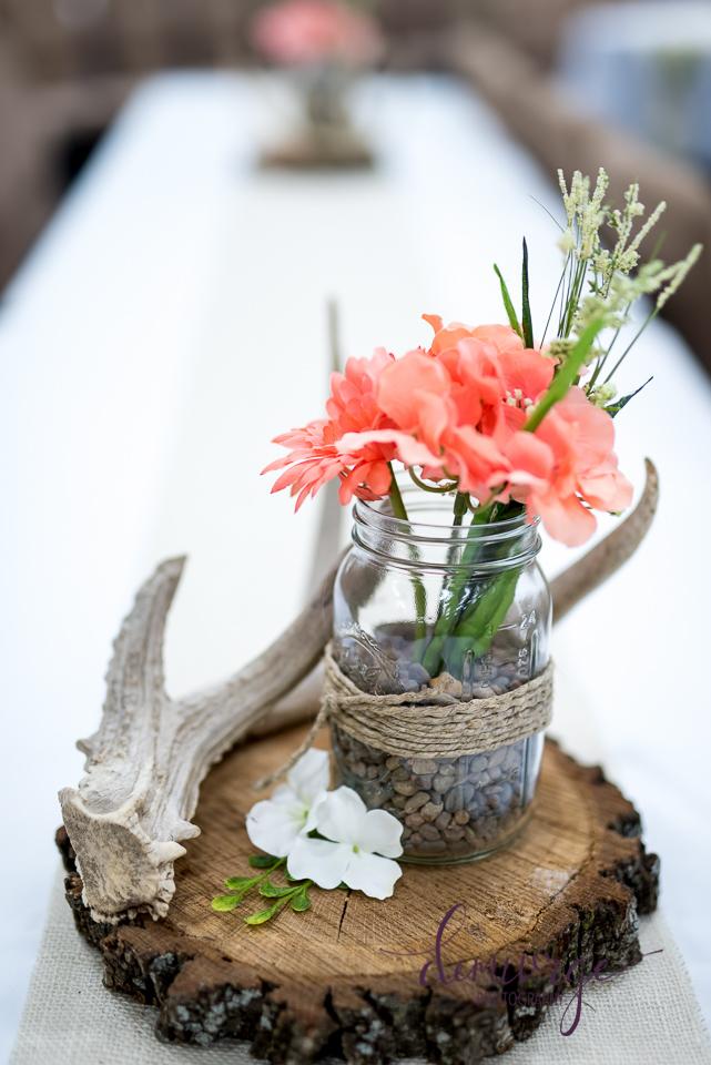 Wedding Centerpiece with antler