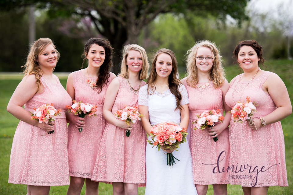 outdoor bridesmaids photo, emporia ks