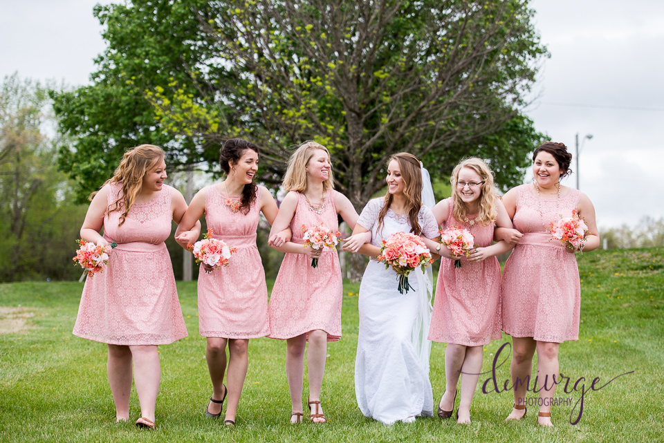 fun outdoor bridesmaid photo
