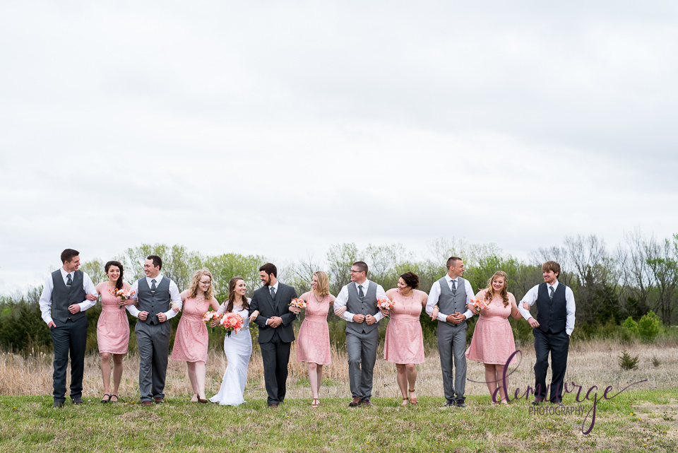 casual wedding party photo