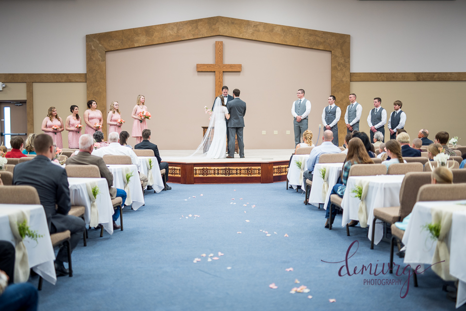 wedding at flint hills christian church, emporia ks