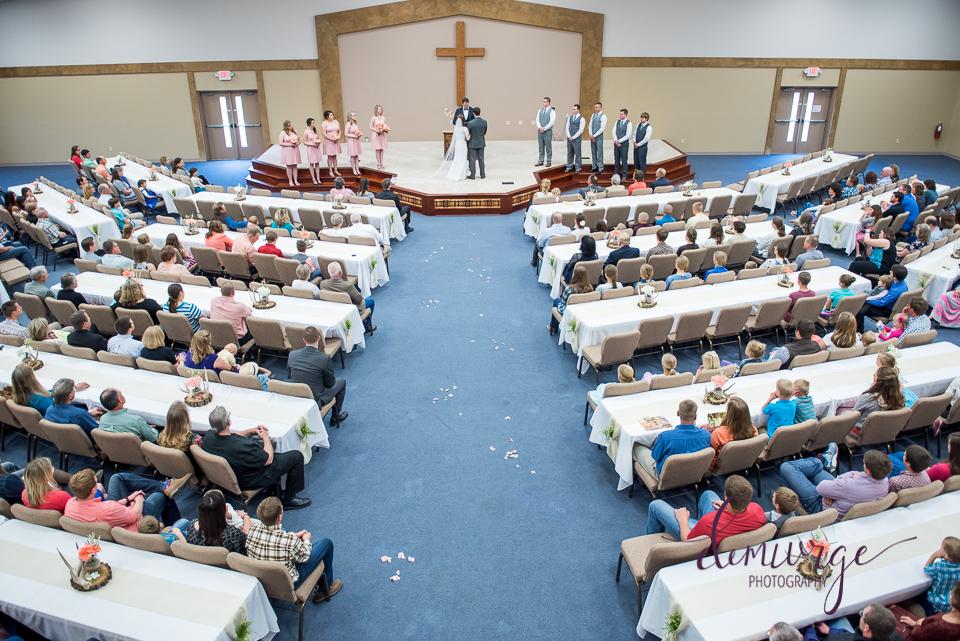 flint hills christian church wedding, emporia kansas