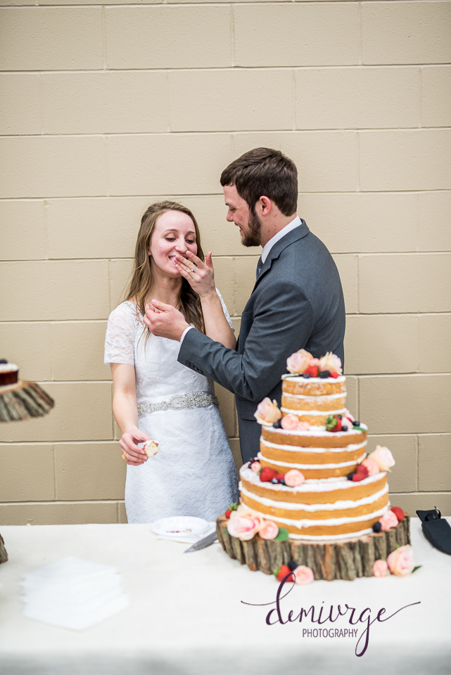 flint hills christian church wedding cake cutting
