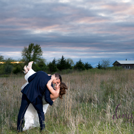 bride and groom sunset photo liquid art winery