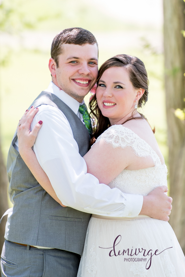 bride and groom portrait, manhattan, ks