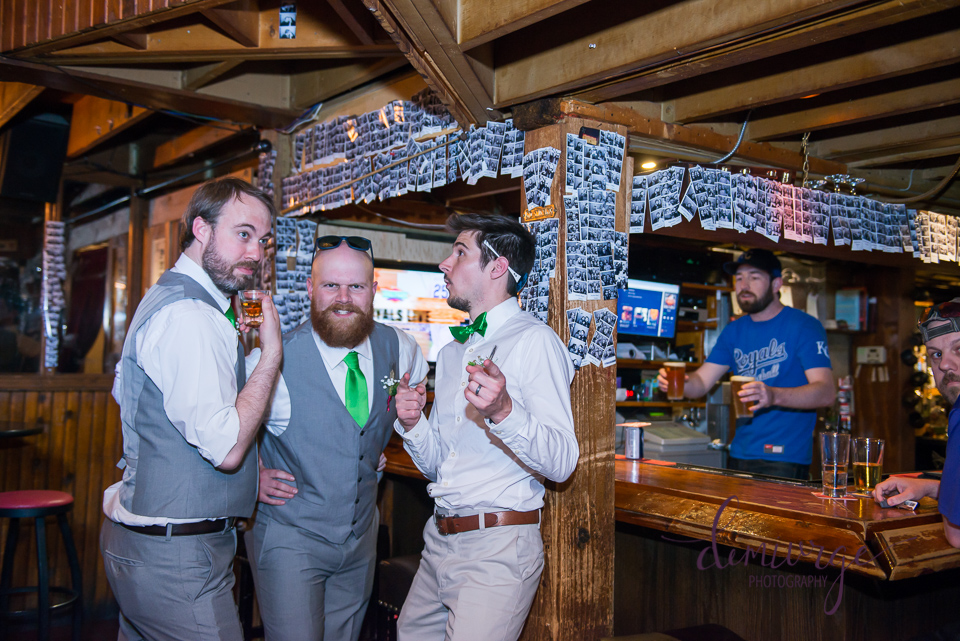 groomsmen at auntie mae's parlor