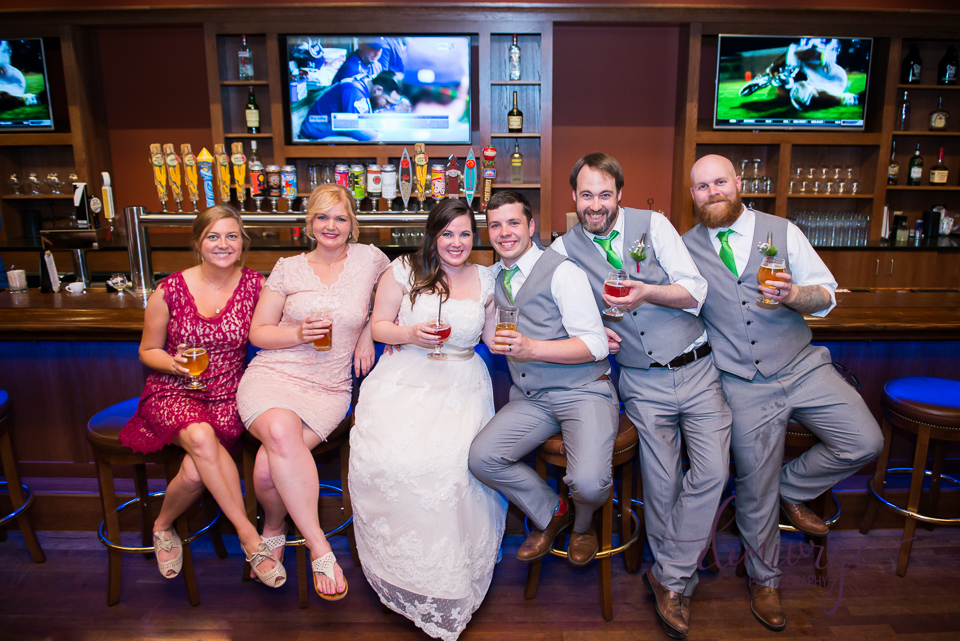 wedding party at Tallgrass Tap House