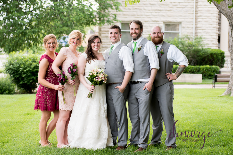 wedding party photo manhattan ks