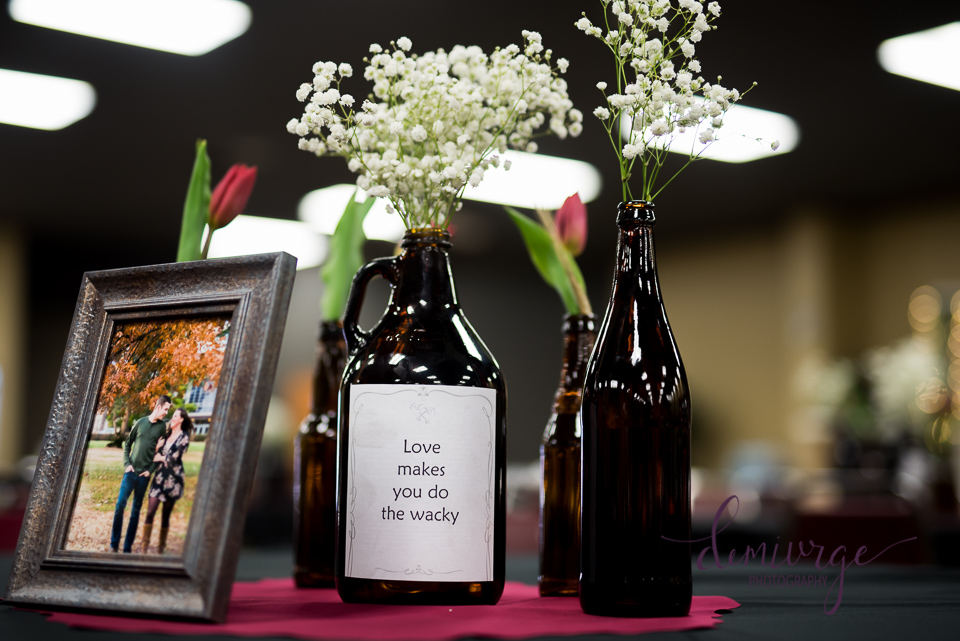 growlers for wedding centerpieces