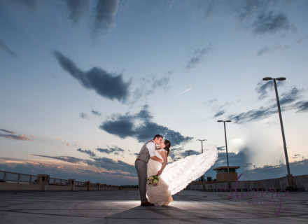 bride and groom sunset portrait manhattan kansas