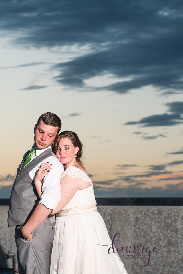 manhattan kansas sunset bride and groom portrait