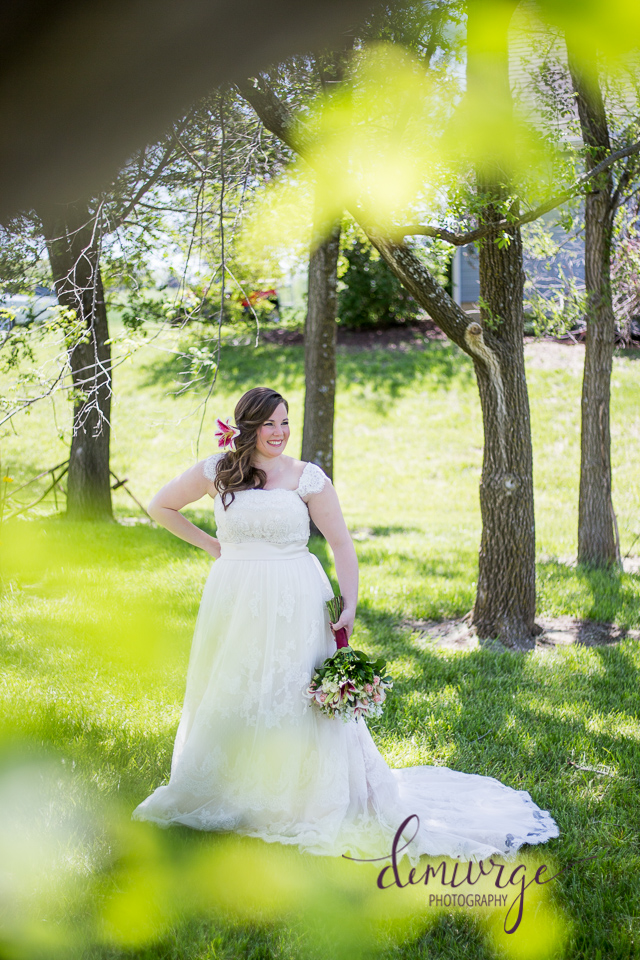 intimate outdoor wedding bridal portrait