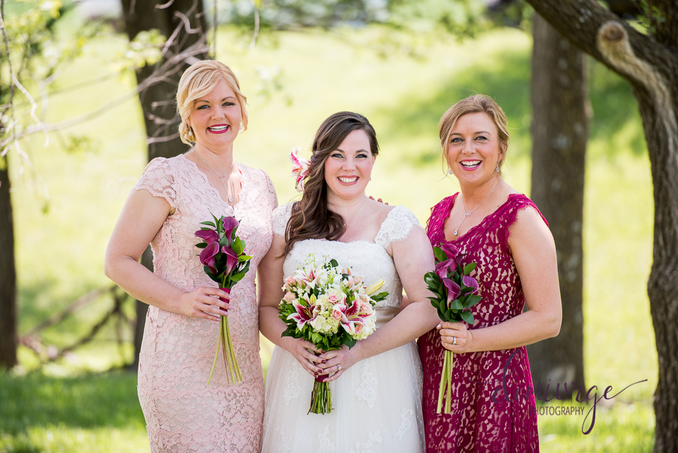 outdoor wedding bridesmaids photo