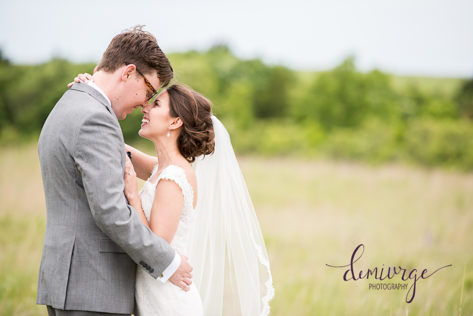 lazy t ranch wedding bride and groom portrait