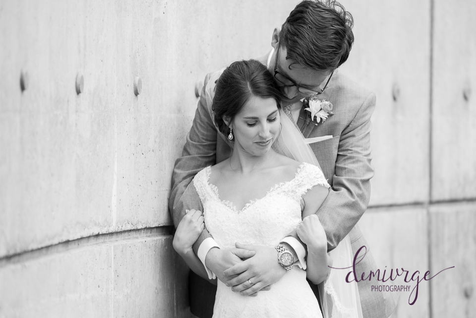 bride and groom portrait manhattan wedding photographer