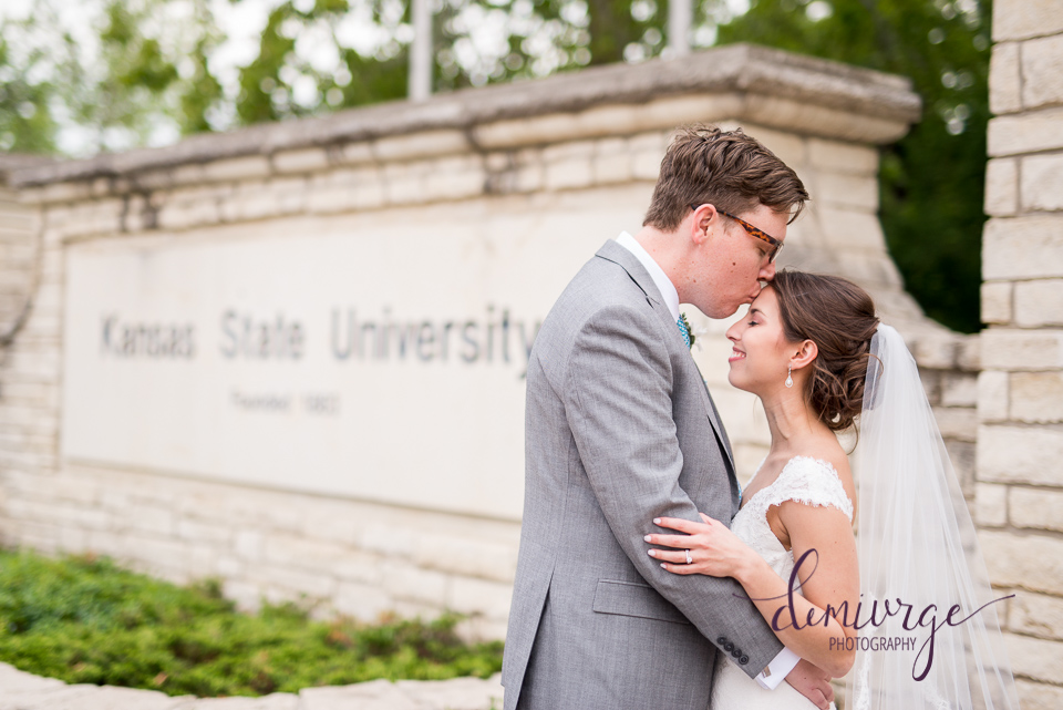 kansas state university bride and groom