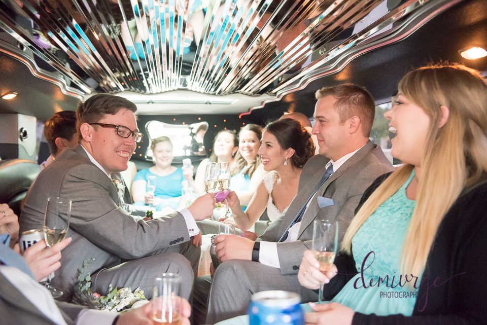 party bus wedding day