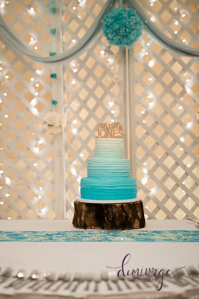 amber wedding cake