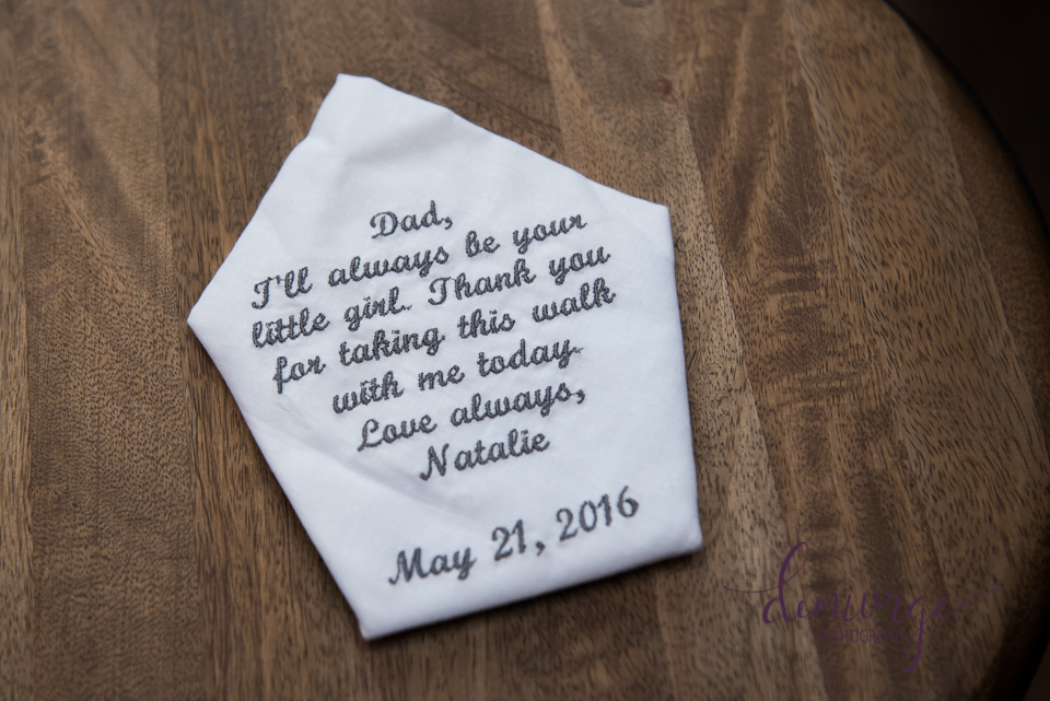 bride's gift to dad on wedding day