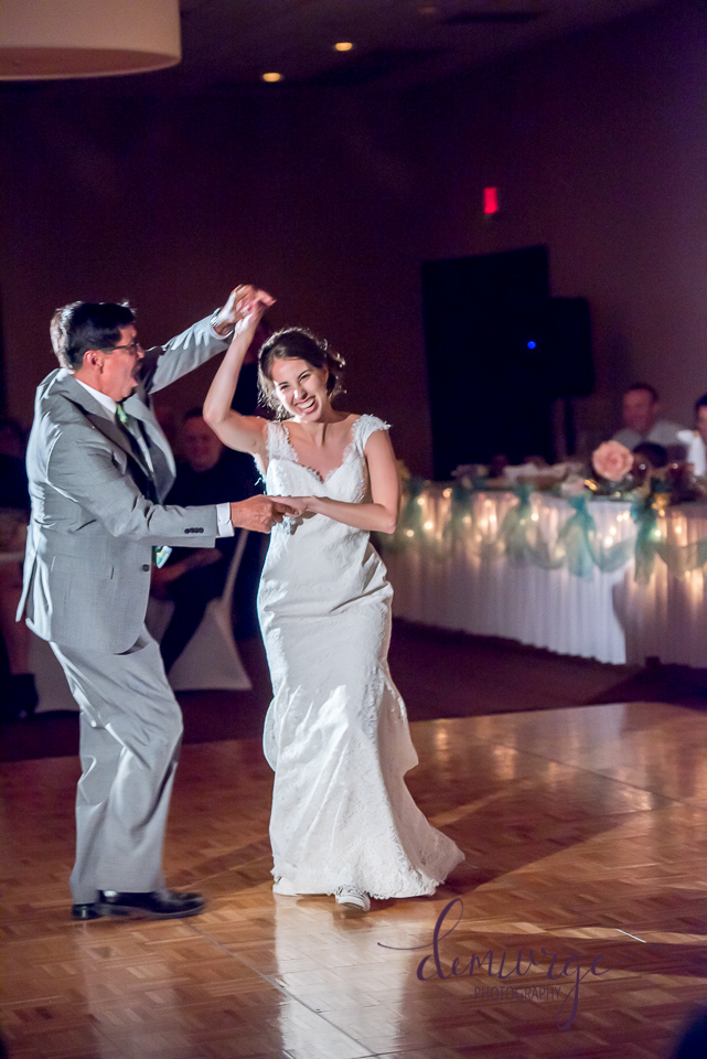 bride's first dance with dad on wedding day