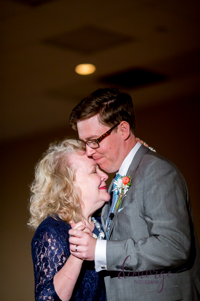 mother and son dance at a wedding