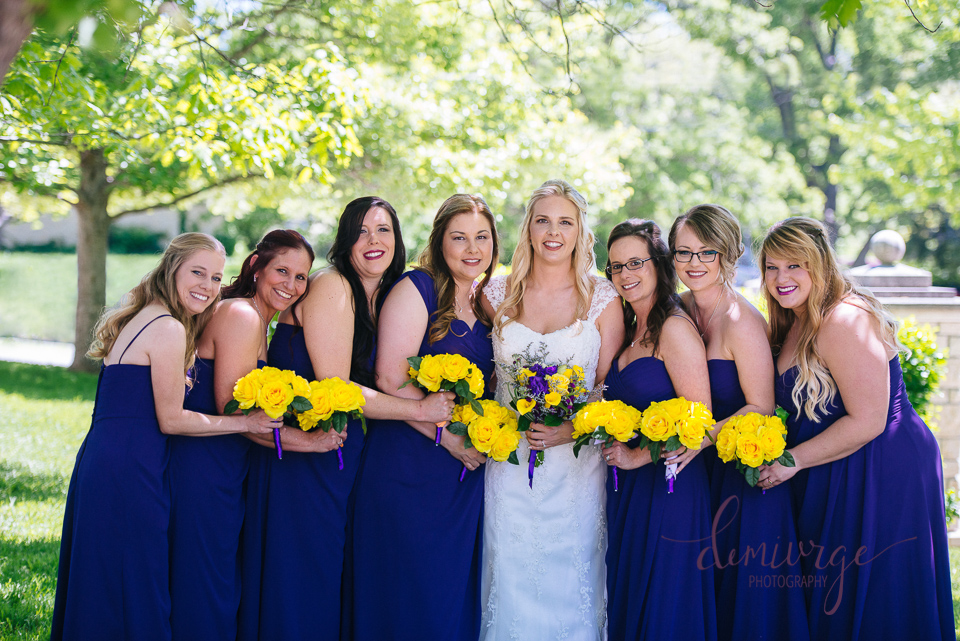 cute group photo with bridesmaids